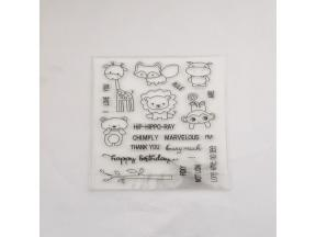 clear stamps of animal friendship