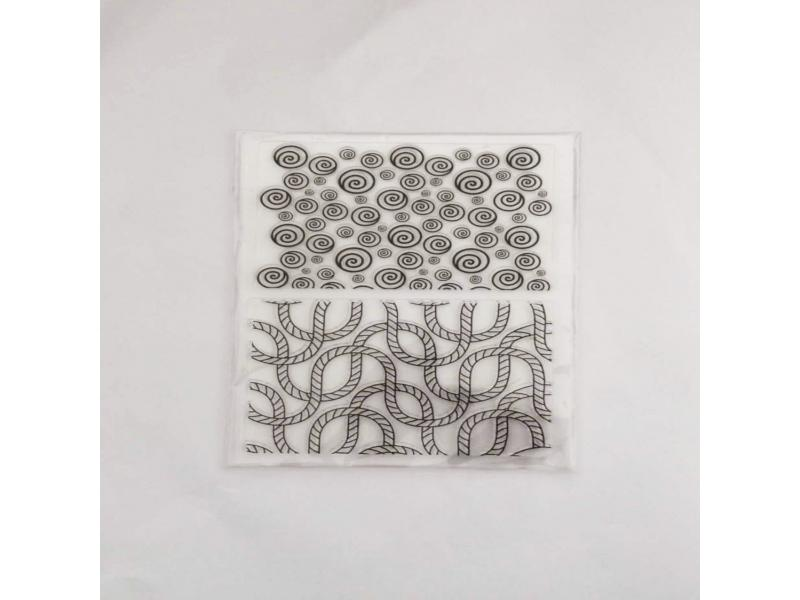 clear stamps of bubble and rope
