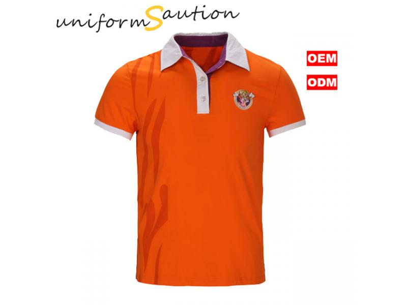 Custom soft cotton polo shirt for Changlong park workers