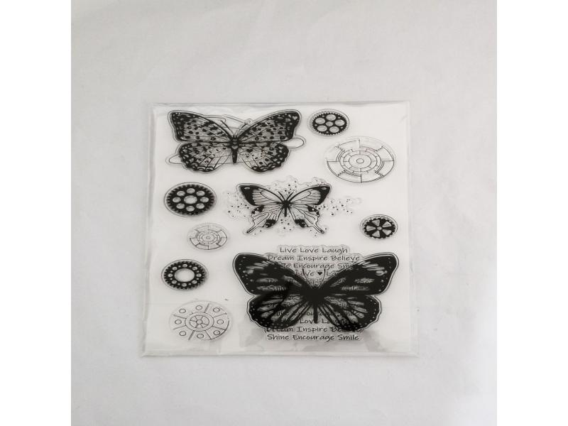 clear stamps of butterfly energetic words