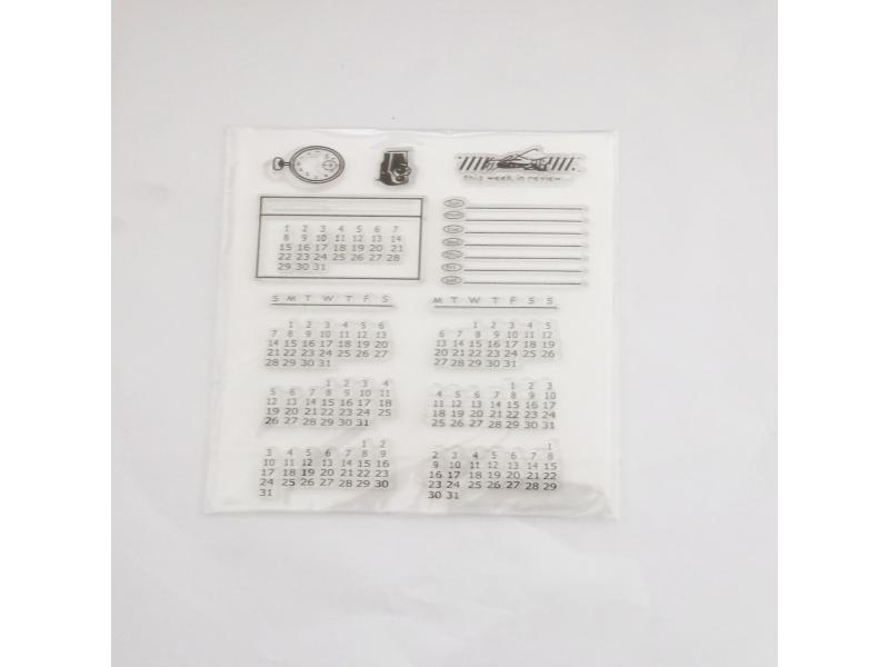 clear stamps of calendar plan