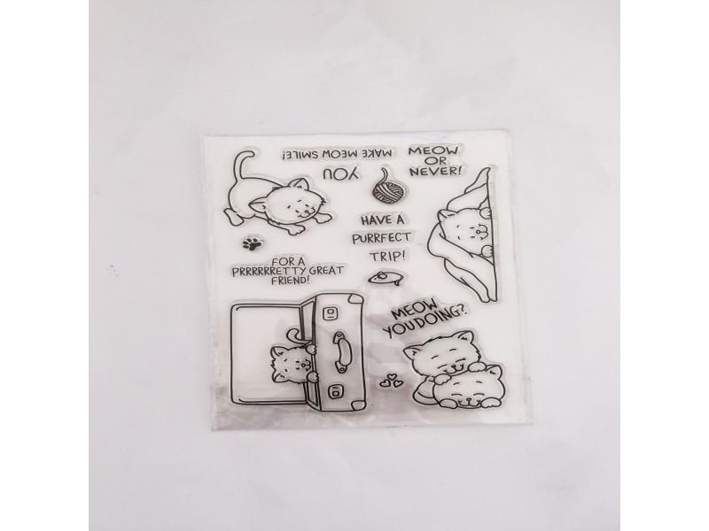 clear stamps of cats trip