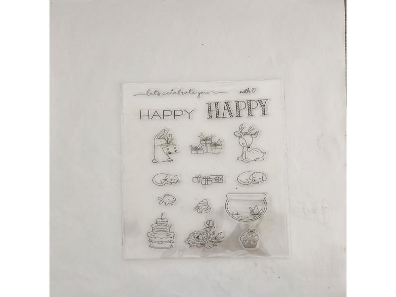 clear stamps of celebrate