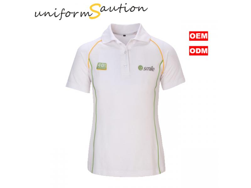 Custom 100%cotton heavy honeycombe work polo shirt form mobile company