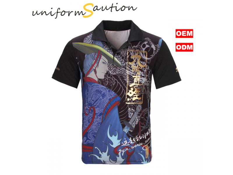 Custom full sublimation printing dryfit polo shirt