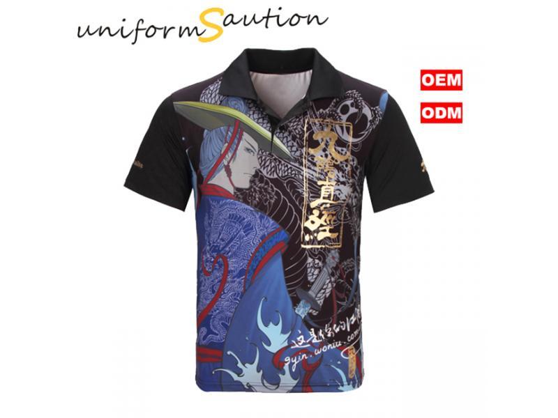 Custom full sublimation printing dryfit polo shirt