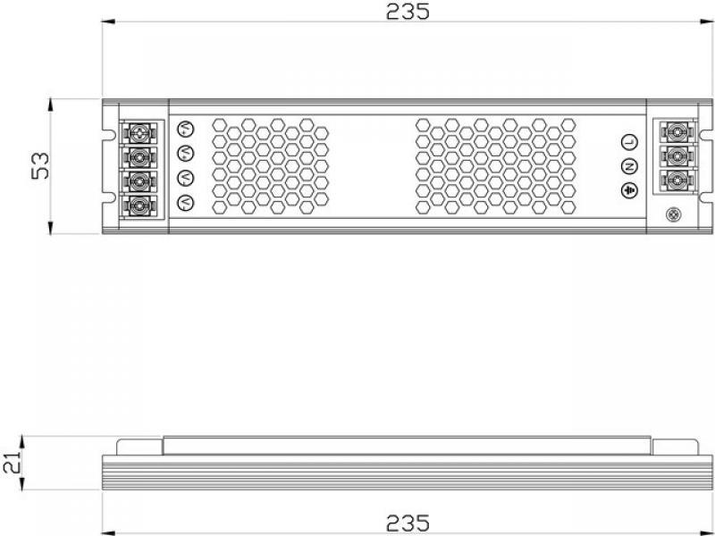 Lanzhao 120W12V light box power supply