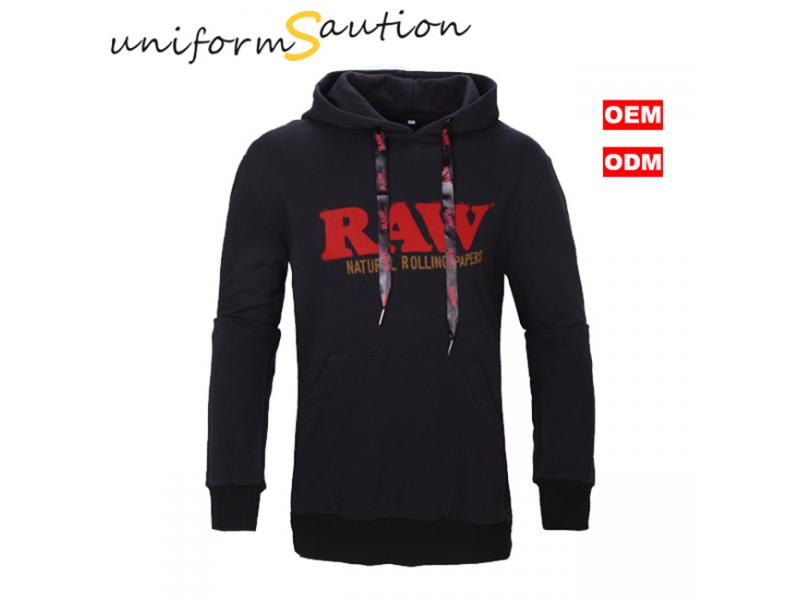Custom branded  pullover cotton hooded sweatshirt