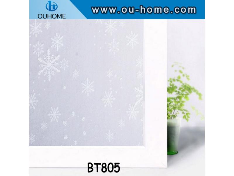 BT805 Self adhesive privacy decorated frosted window film