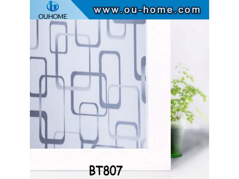 BT807 Privacy glass self adhesive decorative window film