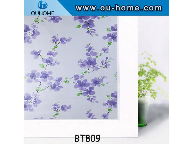 BT809 Popular flower design window film for glass door