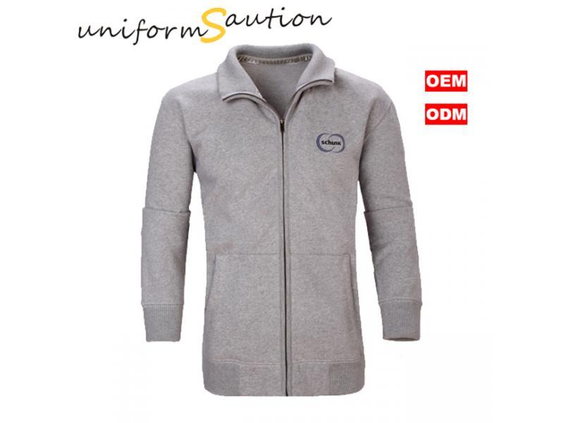 Custom workwear uniform quality combed cotton fleece jacket