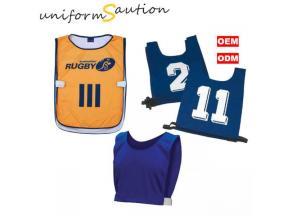 Custom sport team number bibs