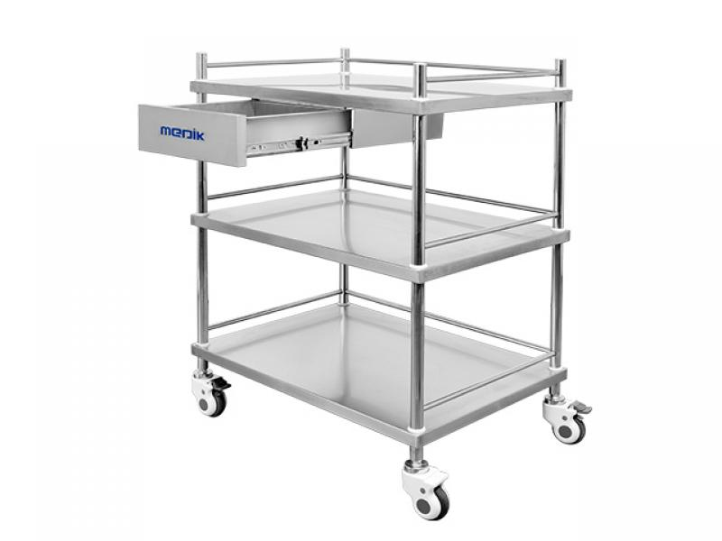 Hospital Medical Stainless Steel Instrument Dressing Trolley