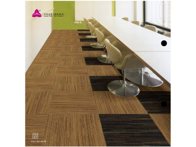 Carpet Tile Pori I  Series Nylon Pile Height 5-3mm Pile Weight 840g per sqm Backing PU