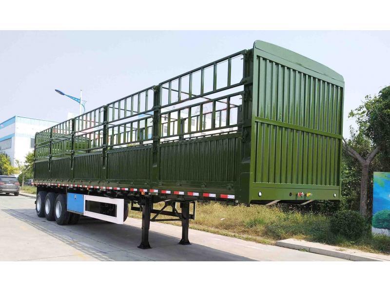 Three-axle stake semi trailer/stake semi trailer/storage/stake truck/stake high bed cattle semi trai