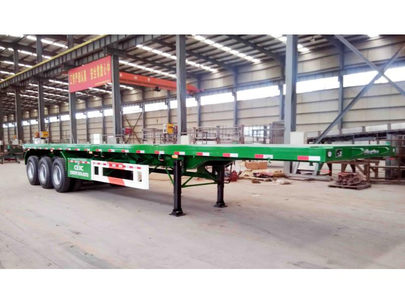 40ft Container Flat Transport Semi trailer/Three-axle 40ft Container Flat Transport Semi trailer/Fla