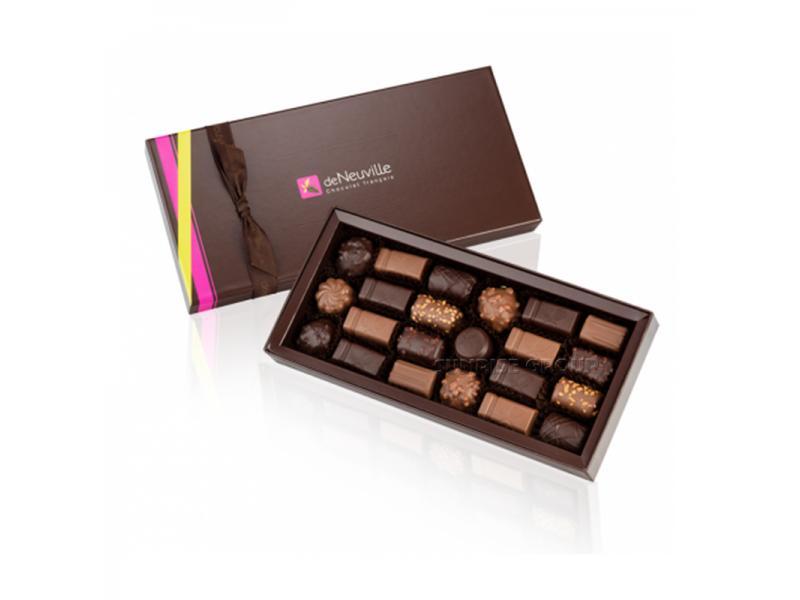 Lid-off Paper Printing Custom Handmade Chocolate Gift Packaging Box