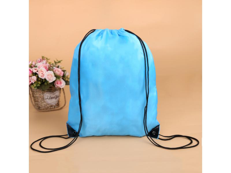 Custom Sports Travel Polyester Drawstring Backpack Bag