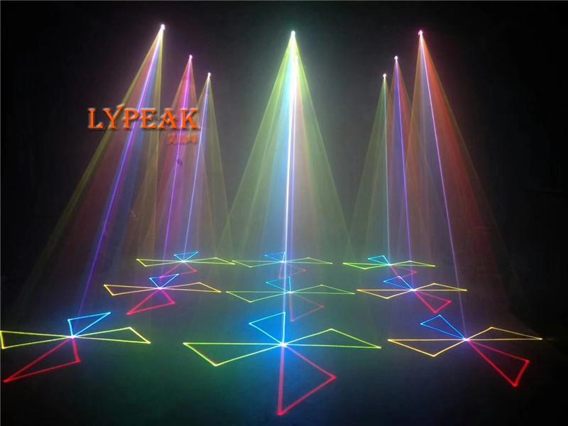 whole sale Disco mini spot led light  led gobo light for KTV RGB 300 mw full colour laser  party Col