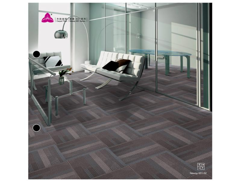 Carpet Tile Neway 001 Series PP Pile Height 5-2.5mm Pile Weight 690g per sqm Backing PVC