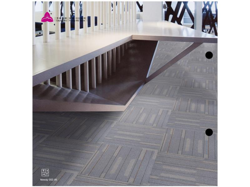 Carpet Tile Neway 002 Series PP Pile Height 5-2.5mm Pile Weight 680g per sqm Backing PVC