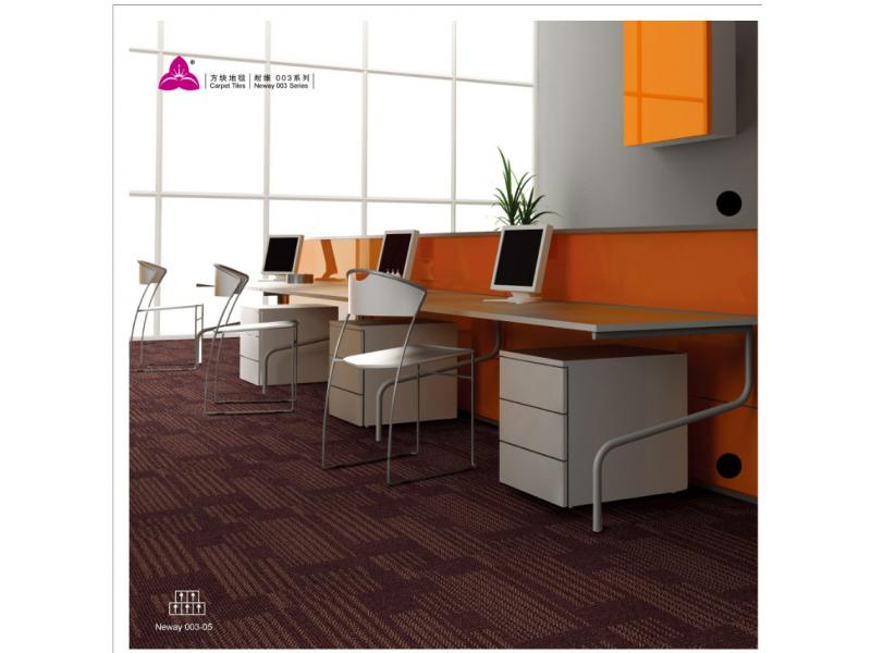 Carpet Tile Neway 003 Series PP Pile Height 5-4-2.5mm Pile Weight 700g per sqm Backing PVC