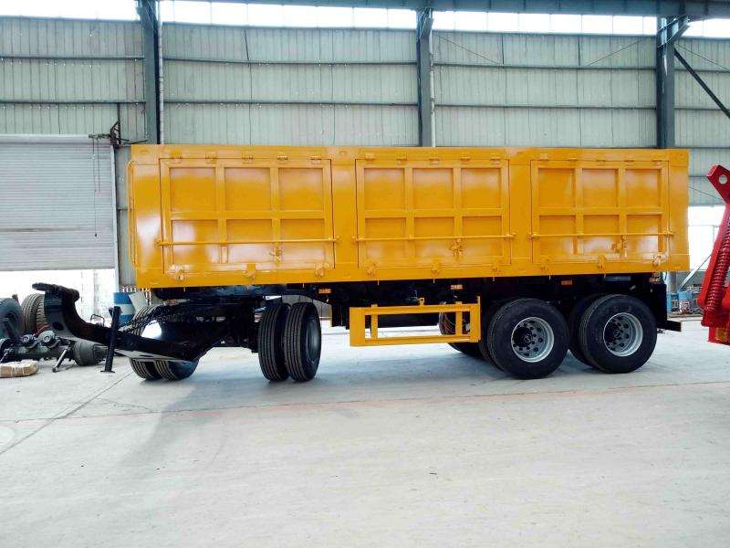 Full trailer/Turntable full trailer truck/High steel fence full trailer/Bulk cargo transport full tr