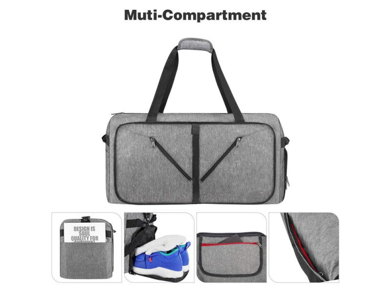Manufacturer custom Lightweight 65L gym bag duffel travel sport china cheap duffle bag luggage custo