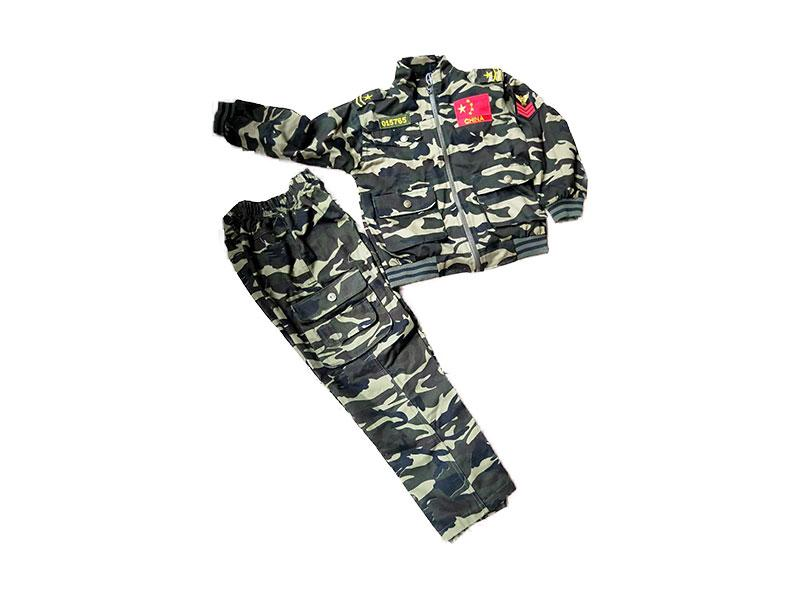 Camouflage long sleeve suit