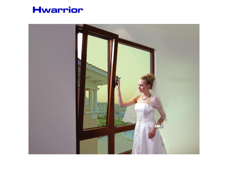 low e glass in-swing casement windows german style aluminum tilt and turn window