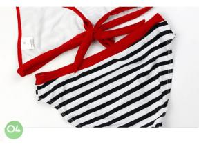 Striped Girls Bikini Bottoms Highly Elastic Floral Children's Swimwear