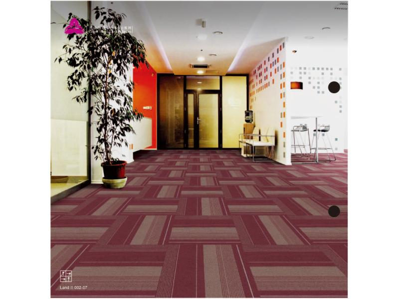 Carpet Tile Land II Series PP Pile Height 3.5mm Pile Weight 560g per sqm Backing PVC