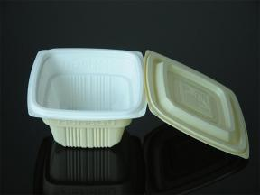 disposable plastic take-out packaging meal box