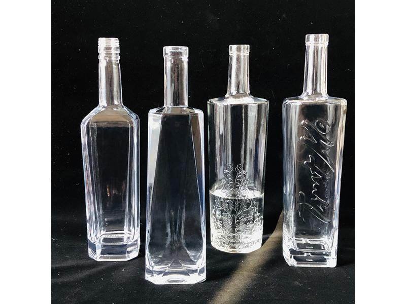 700ml 750ml vodka liquor glass bottles sizes