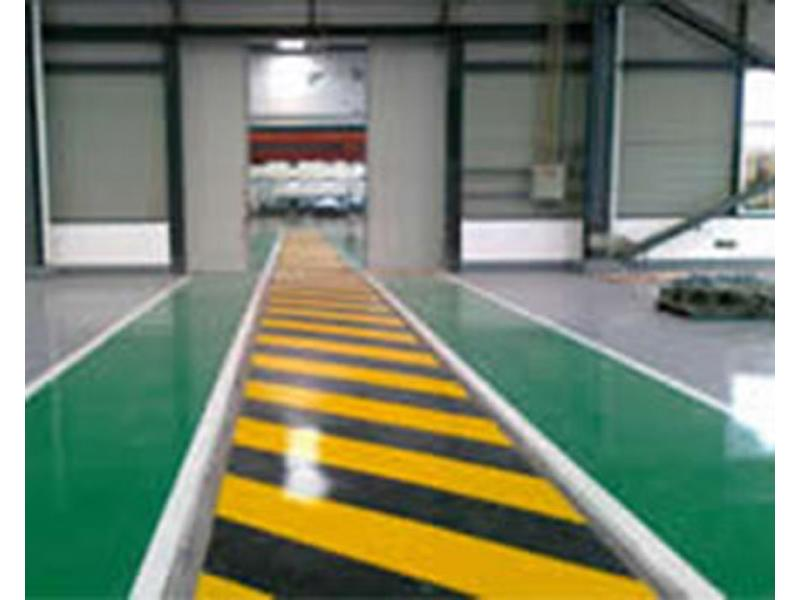 Flat coated epoxy floor