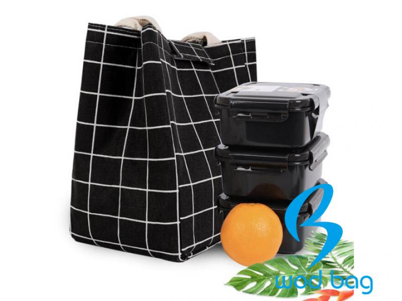 Printed Canvas Lunch Bags