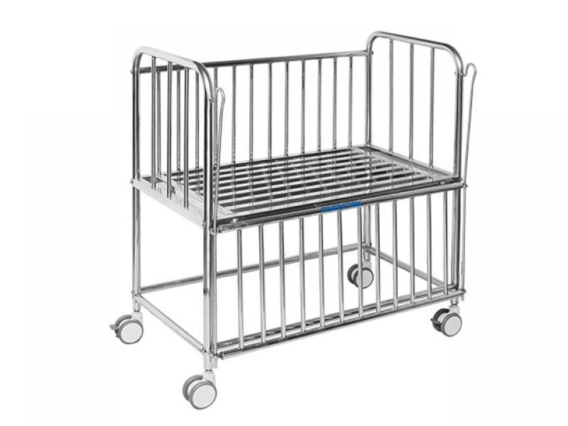 Hospital Stainless Steel Prediatric Infant Child Bed