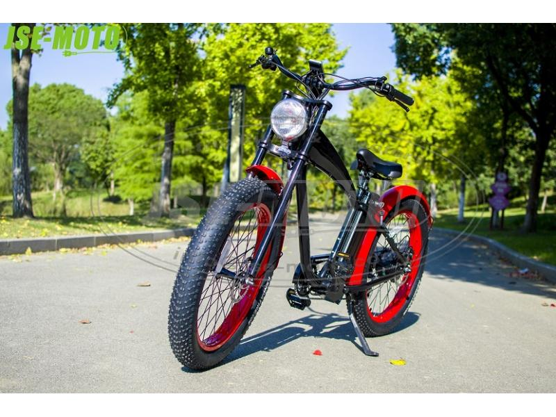 E-BIKE 1000 WATTS HARLEY FAT TIRE BEACH CRUISER
