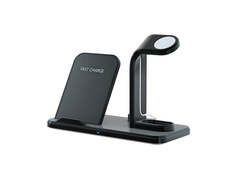 Spadger 3 in 1 Wireless Charger Station for iPhone,Apple Watch Charging Stand with iPhone Wireless C