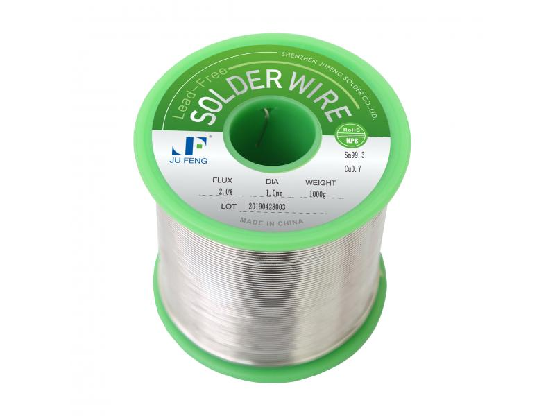 Tin Copper Solder Wire 99.3Sn/0.7Cu Lead Free Flux Cored Manual Welding Wires No-Clean Diameter 0.4m