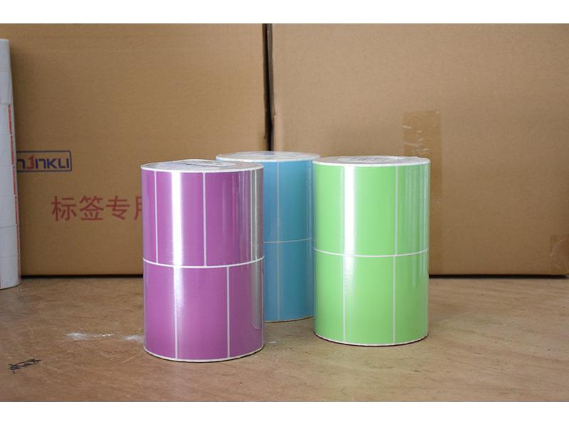 Colorful Water-proof, Top-coated, Mirror Coated,Semi-gloss Thermal Label Sticker