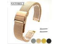 Juelong Wholesale 2 PCS Mesh Band Stainless Steel Watch Strap