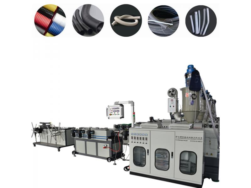 PP/PE/PVC/PA/EVA single wall corrugated pipe extruder machine