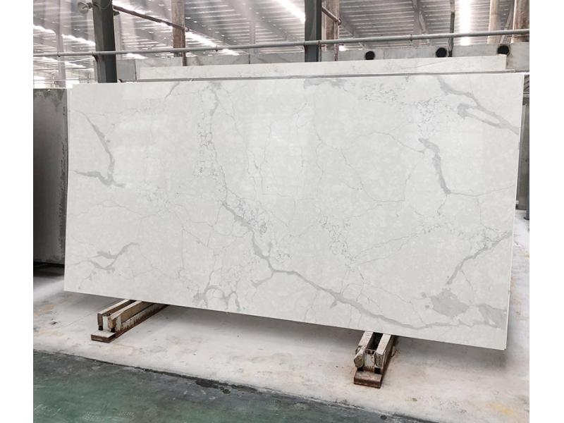 Exporter China Calacatta Gery Color Quartz Surfaces