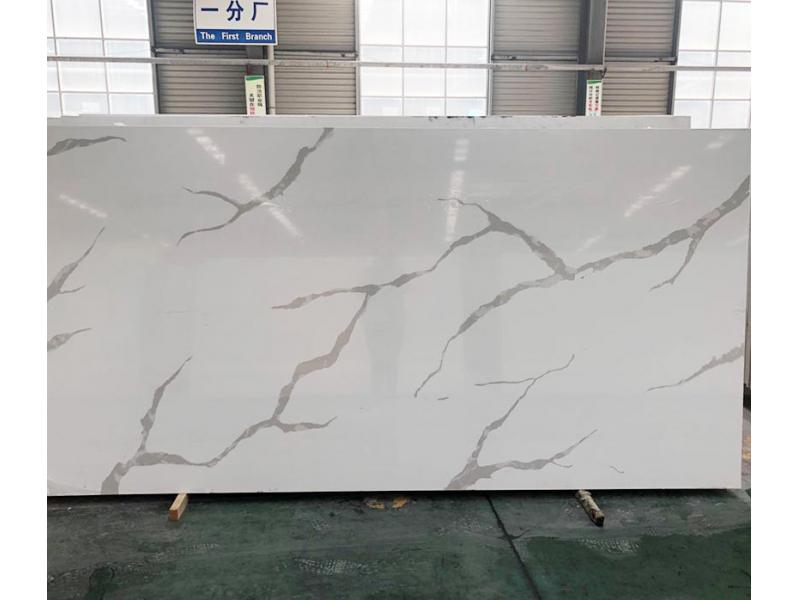 Supplier China Calacatta Quartz Big Slab