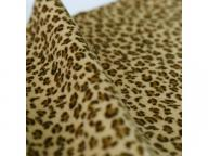 Leopard Flocking Fabric for Shoes Upper