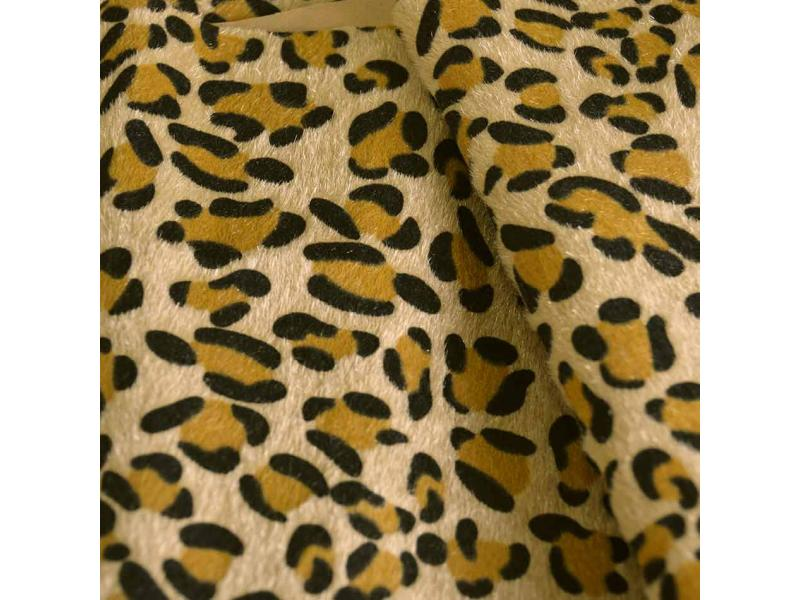 Animal Print PU Flocking Fabric for Shoes