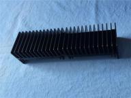 Black anodized round extrusion aluminum heatsink with high quality