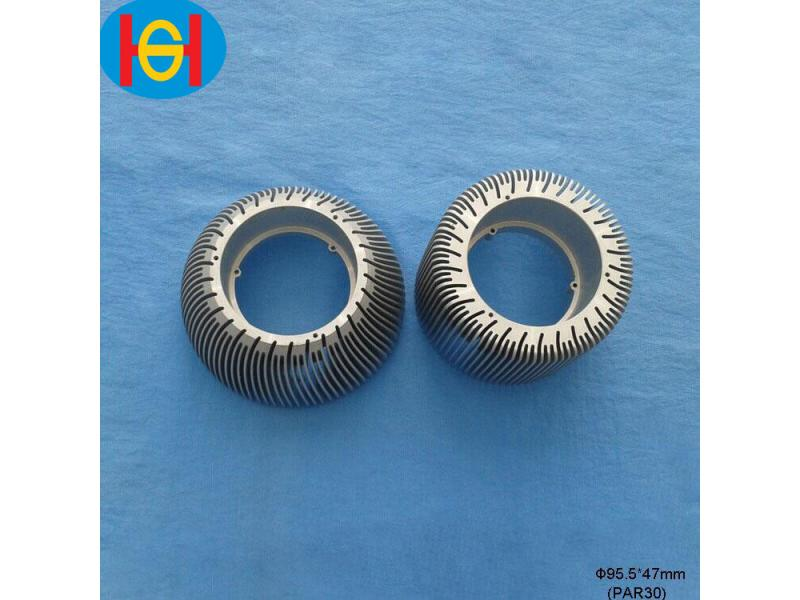 Top Quality extrusion aluminum circular heat sink with OEM